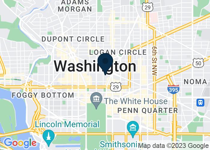 Map of 1177 15th Street, NW, Washington, DC 20005, United States