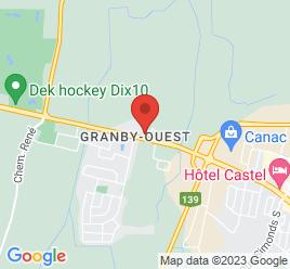 Google Map of 1177+RUE+PRINCIPALE%2CGranby%2CQuebec+J2J+0M3