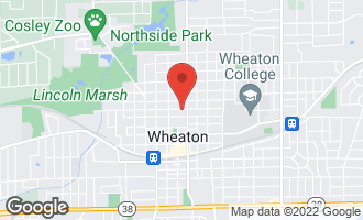 Map of 118 West Lincoln Avenue WHEATON, IL 60187