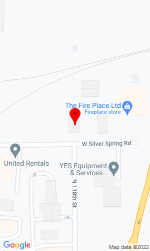 Google Map of Milwaukee Tractor 11800 West Silver Spring Rd, Milwaukee, WI, 53225