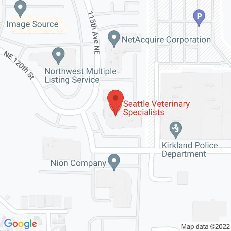 Google Map of 11814 115th Ave Building J, Kirkland, WA 98034, 11814 115th Ave Building J, Kirkland, WA 98034