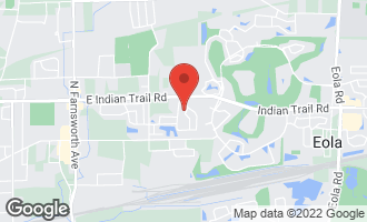 Map of 1184 Drury Lane AURORA, IL 60502