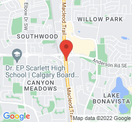 Google Map of 11888+MacLeod+Trail+SW%2CCalgary%2CAlberta+T2J+7J2