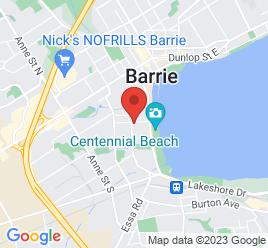 Google Map of 119+Bradford+Street%2CBarrie%2COntario+L4N+3B2