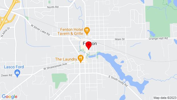 Google Map of 119 S. Leroy, Fenton, MI 48430