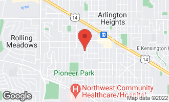 Map of 119 South Ridge Avenue ARLINGTON HEIGHTS, IL 60005