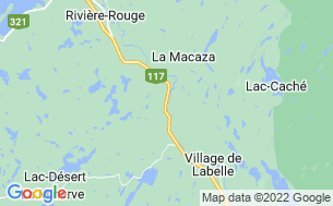 Map of Camping De La Plage