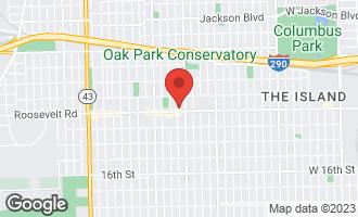 Map of 1192 Clarence Avenue #2 OAK PARK, IL 60304