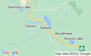 Map of Fort Telkwa Riverfront RV Campground