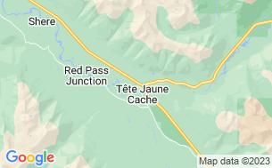 Map of Tete Jaune Lodge