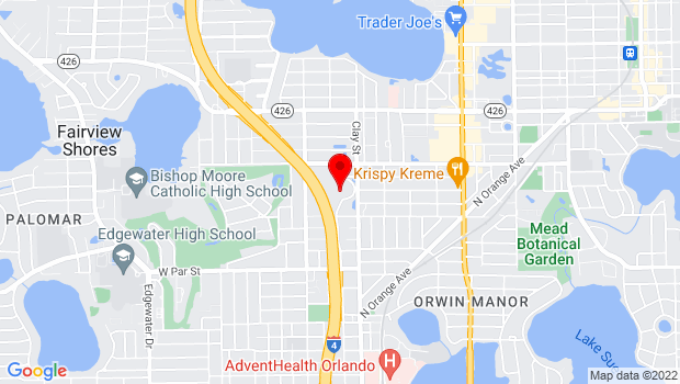 Google Map of 1199 Clay St, Winter Park, FL 32789