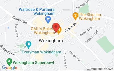 Map of 12 Peach Place, Wokingham, UK