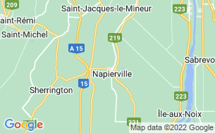 Map of Camping Domaine Des Arpents Verts