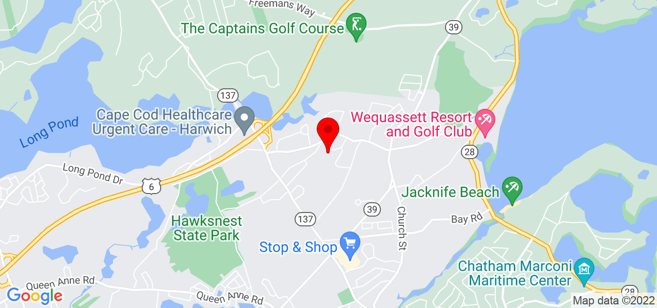 Google Map of 12 Harding Lane Harwich MA