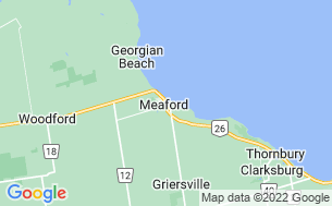 Map of Meaford Memorial Park and Campground