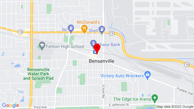 Google Map of 12 S Center St, Bensenville, IL 60106
