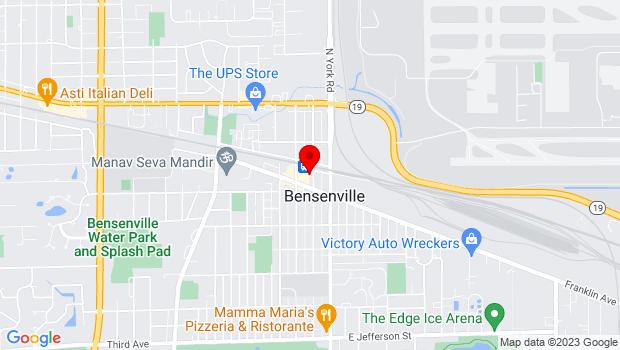 Google Map of 12 S Center St, Bensenville, IL 60106