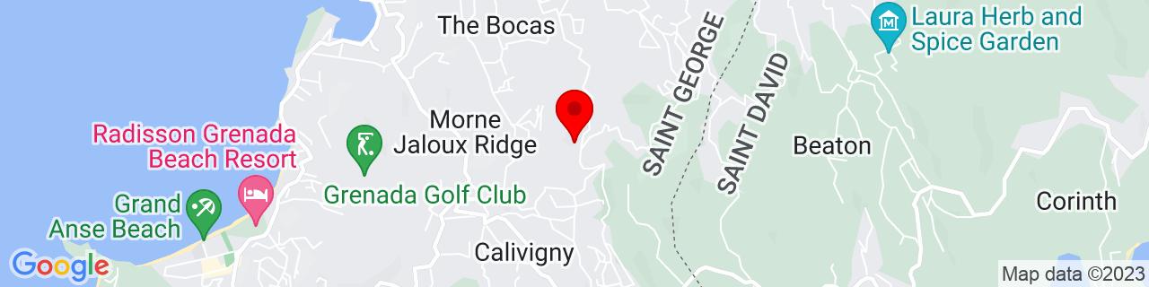 Google Map of 12.0330966, -61.7266625