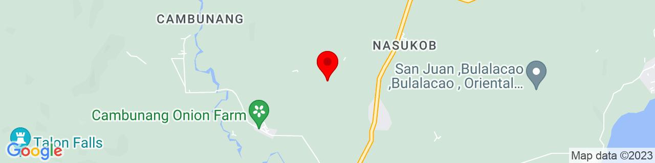 Google Map of 12.369, 121.3356
