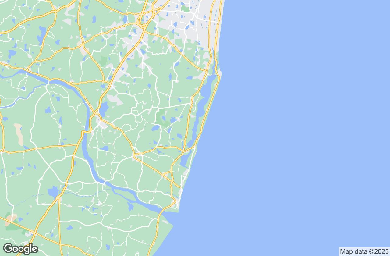 Google Map of Mahabalipuram