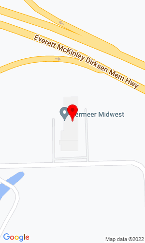 Google Map of Vermeer Midwest 120 E Martin Drive, Goodfield, IL, 61742