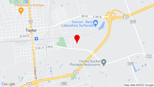 Google Map of 120 East 2nd Street, Taylor, TX