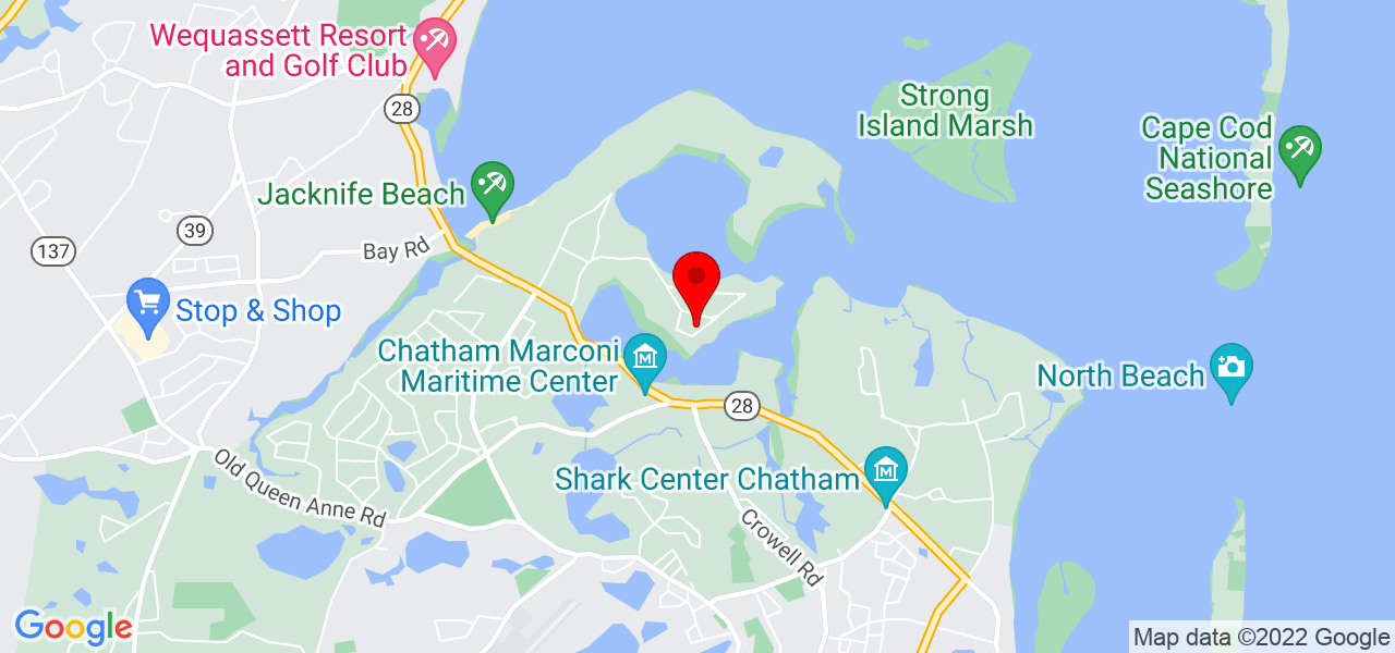 Google Map of120 Woodland Way Chatham MA