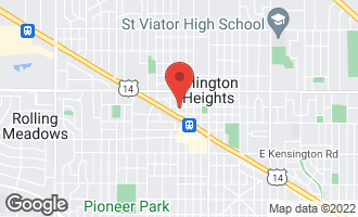 Map of 120 West Eastman Street Arlington Heights, IL 60004