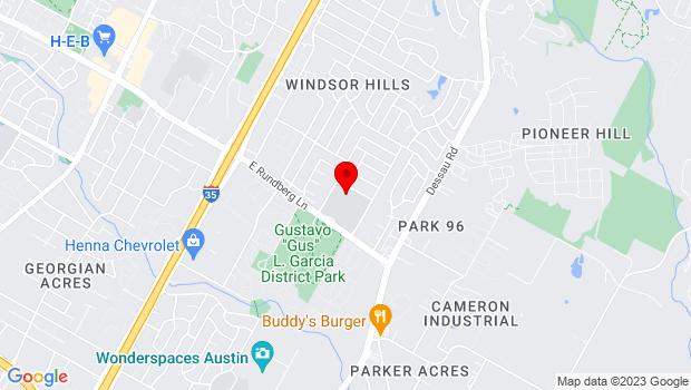 Google Map of 1200 E Rundberg Ln, Austin, TX 78753