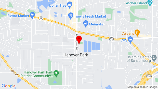Google Map of 1200 Sycamore, Hanover Park, IL 60133