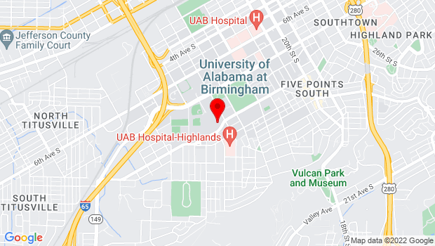 Google Map of 1200 Tenth Avenue South  , Birmingham, AL 35294