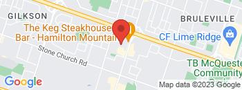 Google Map of 1200+Upper+James+Street%2CHamilton%2COntario+L9B+1K0