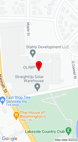 Google Map of Quality Truck and Equipment  1201 E. Bell Street, Bloomington, IL, 61701