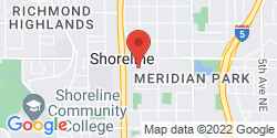 Google Map of 1201 N 175th Street+Shoreline+WA+98133