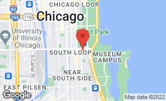 Map of 1201 South Prairie Avenue #3301 CHICAGO, IL 60605