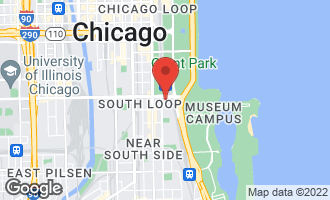 Map of 1201 South Prairie Avenue #4702 CHICAGO, IL 60605