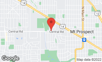 Map of 1204 West Central Road MOUNT PROSPECT, IL 60056