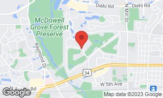 Map of 1205 Briergate Drive NAPERVILLE, IL 60563