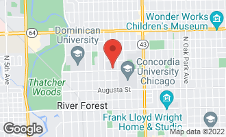 Map of 1207 Jackson Avenue RIVER FOREST, IL 60305