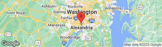 Map of 1208 PRINCESS STREET ALEXANDRIA, VA 22314