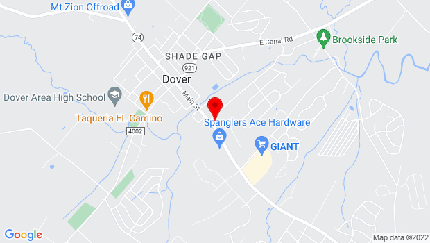 Google Map of 121 S. Main St, Dover, PA 17315