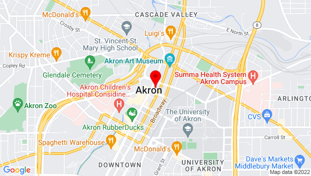 Google Map of 121 South Main Street Suite 500, Akron, OH 44308