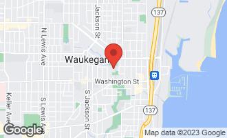 Map of 121 North Park Avenue WAUKEGAN, IL 60085