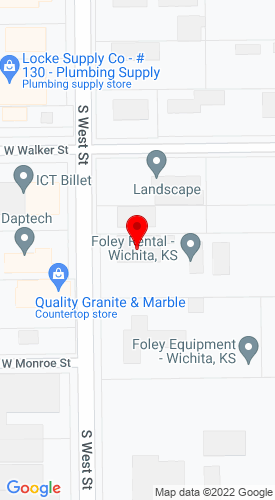 Google Map of Foley Supply, LLC 1210 South West Street, Wichita , KS, 67213