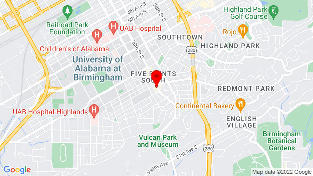 Google Map of 1210 20th St S, Birmingham, Birmingham, AL 35205