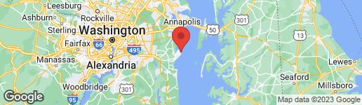 Map of 1210 OAK AVENUE SHADY SIDE, MD 20764