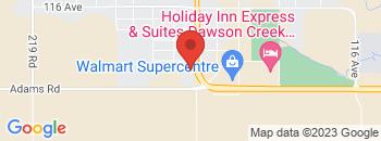 Google Map of 12109+-+8th+Street%2CDawson+Creek%2CBritish+Columbia+V1G+5A5