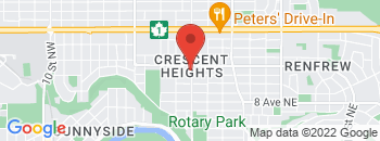 Google Map of 1211+Centre+St.reet+NW%2CCalgary%2CAlberta+T2E+2R3