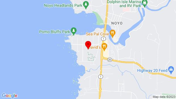 Google Map of 1211 Del Mar Drive, Fort Bragg, CA 95437