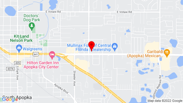 Google Map of 1211 East Semoran Boulevard, Apopka, FL 32703